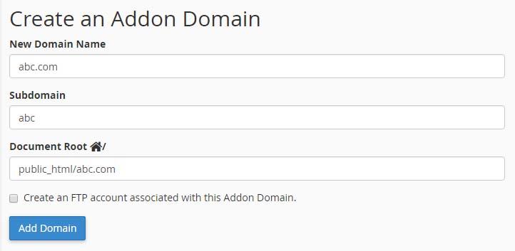 add-addon-domain
