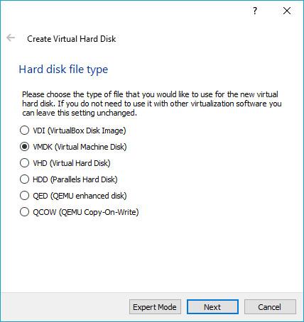 vmdk-virtualbox-centos