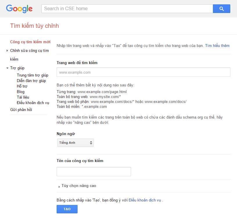 them-google-custom-search